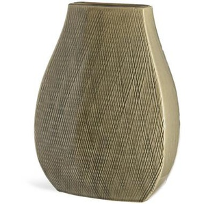 Vase schmal, Keramik, 20,5x12,5x27cm, beige