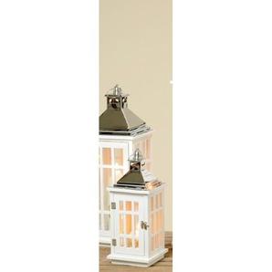 BOLTZE Laterne REINER 41 cm Holz/Metall weiß/grau