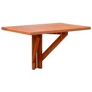 GARDEN PLEASURE Balkonhängetisch »STANFORD«, Eukalyptusholz, klappbar, 60x40 cm, braun