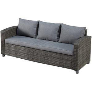 Sofa Louisiana (3-Sitzer, mit Polster, grau)