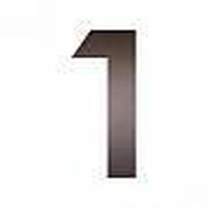 Heibi Hausnummer Midi Edelstahl mokkabraun Ausführung: Nummer 0