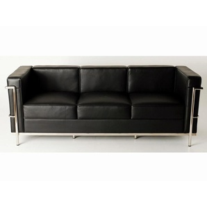 LC2 3-Sitzer Le Corbusier - Schwarz