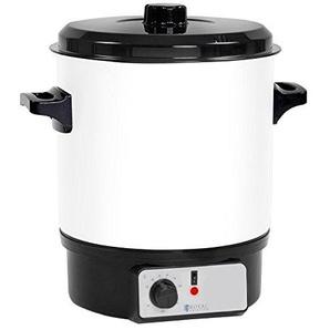 Royal Catering Glühweintopf Glühweinkocher Heißgetränkespender RCMW-27WDTB (27 L, 1.800 W, Temperatur 30–100 °C, Stahl, Kunststoff)