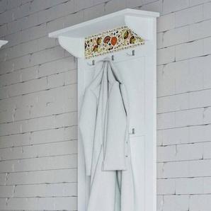 Home affaire Garderobe »Elza«, weiß mit dekorativem Muster, Breite: 60 cm