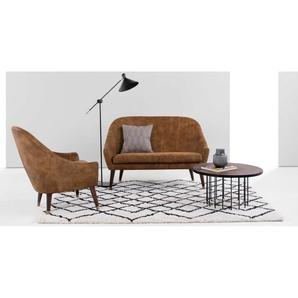 Seattle 2-Sitzer Sofa, Vintage-Premium-Leder in Hellbraun