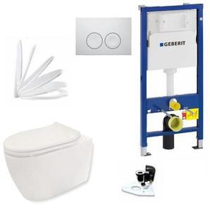 Geberit Vorwandelement + Keramag iCon + Delta21 + WC Sitz + Beschichtung