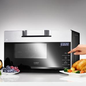 Caso IMCG25 Inverter-Mikrowelle mit Grill und Heißluft Schwarz/Silber