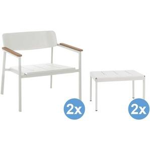 Emu Shine Lounge Gartenstühle + 2 Fußhocker