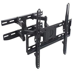 TradeMount Monitor Wandhalterung Eco Doppelarm schwarz ausziehbar von 8,0cm bis 46,5cm schwenkbar für Grundig 40 40 VLE 8160 SL