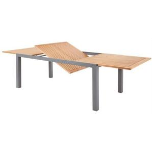 OUTDOOR ausziehbarer Tisch /Gartentisch /Ausziehtisch 200/300 x 110 KIAN Aluminium/Holz Braun