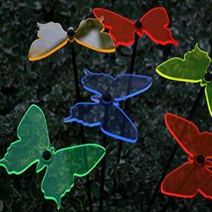 Sonnenfänger Schmetterlinge 6er Set Ø11cm Leuchtscheibe Stab 100cm