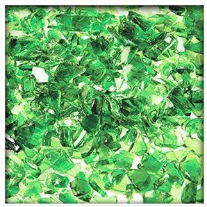 Kieskönig 5 kg Glassplitt Glasbruch Glassteine Glas Splitt Deko Körnung 5-10 mm Hellgrün