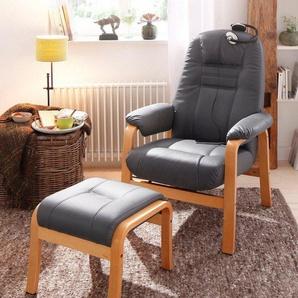 Home affaire Relaxsessel »Avignon«, kippbar mit Hocker, Holzgestell