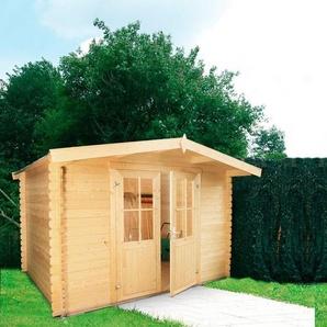 WOLFF FINNHAUS Gartenhaus »Lyon C«, BxT: 324x290 cm