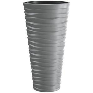 PROSPERPLAST Pflanzkübel »Sand slim«, ØxHöhe: 39x75 cm, steingrau