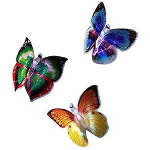 joka international GmbH LED Schmetterlinge Butterflys 6er Set m Saugnapf Farbwechsel 14076
