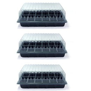 Value Pack von 3 Standard-Propagatoren von Britten & James®. Enthält drei Samenschalen, drei 24-Zellen-Einsätze und drei klare Deckel. Jetzt direkt bei Britten & James® erhältlich