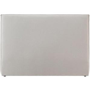 Design-Bettkopfteil 160cm aus beigem Stoff ATHENA