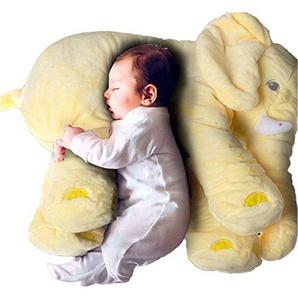 Woneart Baby Elefant Kissen Plüschtiere Kuscheltier Kinder Lendenkissen Spielzeug (Gelb)