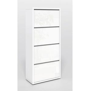 Mehrzweckschrank SUMMER Lack Weiß Hochglanz ca. 70 x 158 x 34 cm
