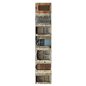 PLAGE escaleras-puertas Welt, Vinyl, Mehrfarbig, 19x 3x 100cm, 3Stück