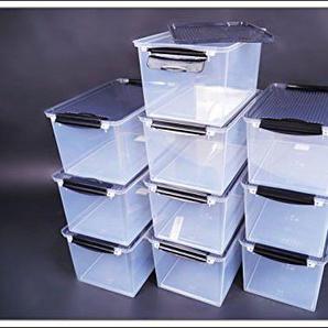 5x System Boxen mit Deckel 33x 22x 16cm 8Liter Volumen Pro Box mit Schnappverschluss
