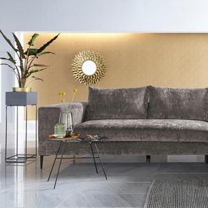 Inosign Eck-Sofa, silber, Inkl. Zierkissen, hoher Sitzkomfort