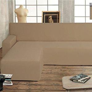 Genius Salvador Sofabezug für Sofas mit Halbinsel, Modell Swing, Farbe: Taube Sinistra Taupe