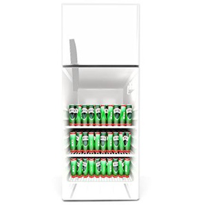 Kühlschrank Aufkleber 60 x 90 cm Dosenbier