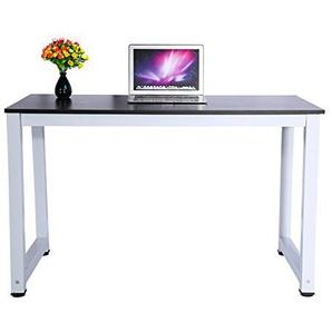 Greensen Computertisch Bürotisch Schreibtisch PC Tisch Für Home Office  Kinder/Studenten (Schwarz)