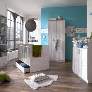 JUSTyou Jasmin Kinderzimmer-Set Kinderzimmermöbel Komplett Eiche Bianco