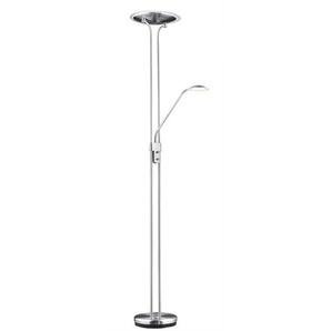 casaNOVA dimmbarer LED Deckenfluter mit Leselampe / Stehlampe EVER Nickelfarbig