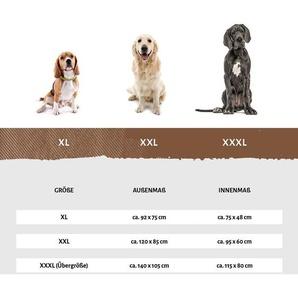 Knuffelwuff Leder Hundebett Jerry Grau Eckig / XXL 120 x 100