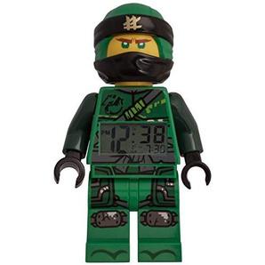 LEGO Lloyd Ninjago 9009198 Kinderwecker Kunststoff 24cm, Schwarz/Grün, 24 cm