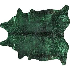 Rinderfell - Unikat  Pop Art ¦ grün ¦ Rinderfell Teppiche  Auslegware » Höffner