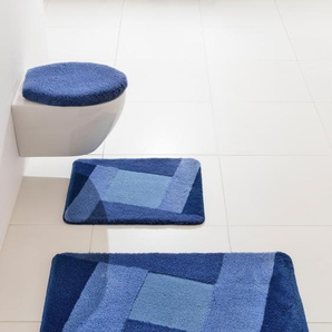 Badgarnitur, blau, Gr. 70/120 cm, Kleine Wolke, Material: Polyacryl