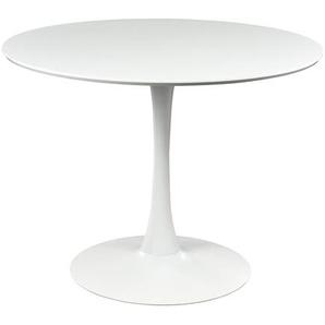 Esstisch, D:100cm x H:75cm, weiß