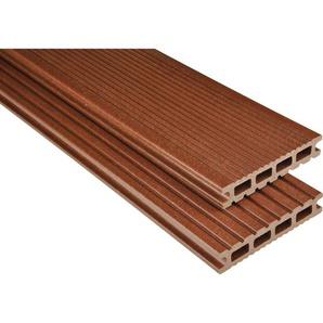 Kovalex WPC Terrassendiele Exklusiv mattiert Braun Zuschnitt 2,6x14,5x210cm