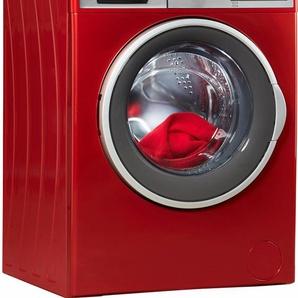 Waschmaschine HWM714A3D, Fassungsvermögen: 7 kg, rot, Energieeffizienzklasse: A+++, Hanseatic