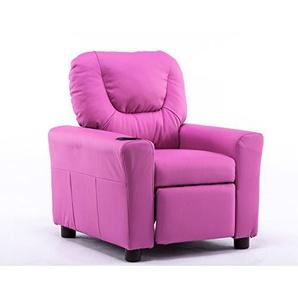 MCombo Kindersofa Kindersessel Fernsehsessel Relaxsessel mit formstabiler Schaumsoff (Pink)