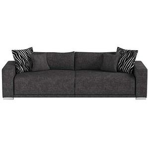 Big Sofa London-XXL Struktur grau, 287x103 cm,