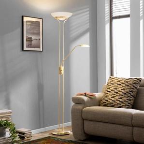 Honsel LED-Stehlampe, Messing, Alu, Eisen, Stahl & Metall