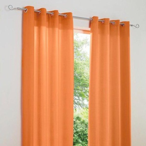 Damen Dekoschal unifarben, orange, Gr. 265/140 cm,  home, Material: Polyester