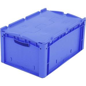 BITO-Lagertechnik Eurostapelbehälter XL Deckel/Kufe / XLD64271D 600x400x270 blau Deckel Doppelbode