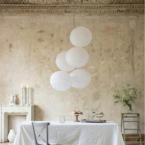 Tischdecke Crash-Optik - Weiß - 60% Baumwolle, 40% Leinen - Tischwäsche