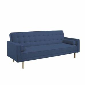 3 Sitzer Sofa mit Schlaffunktion Blau