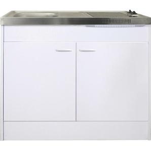 Respekta Miniküche Pantry100 ohne Kühlschrank Weiß