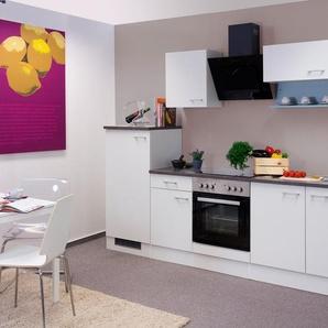 Küchenzeile mit E-Geräten »Lucca«, Gesamtbreite 270 cm