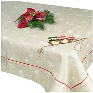 Delindo Lifestyle Tischdecke »EULEN«, gesticktes Design, schwere Qualität