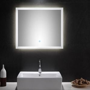 LED Spiegel 70x60 cm mit Touch Bedienung